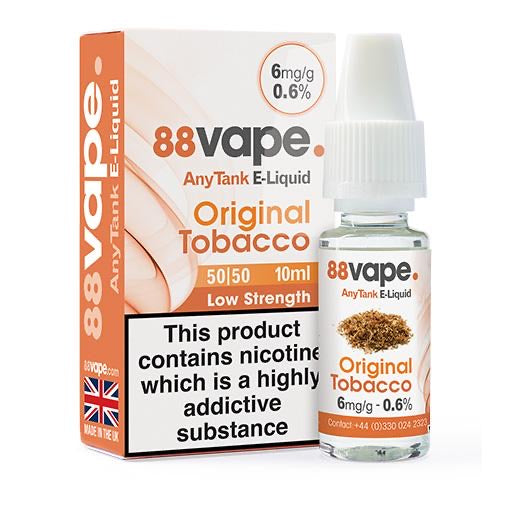 88Vape Original Tobacco 10ml E-Liquid
