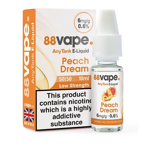 88Vape Peach Dream 10ml E-Liquid