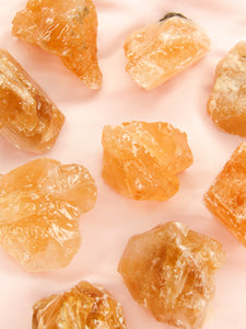 Honey Calcite rough - Mini - Lunar Crystals