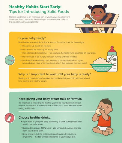 American Academy of Pediatrics offers tips on baby's first solid foods