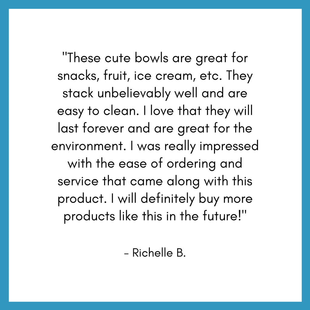 Stainless steel bowl set review from customer