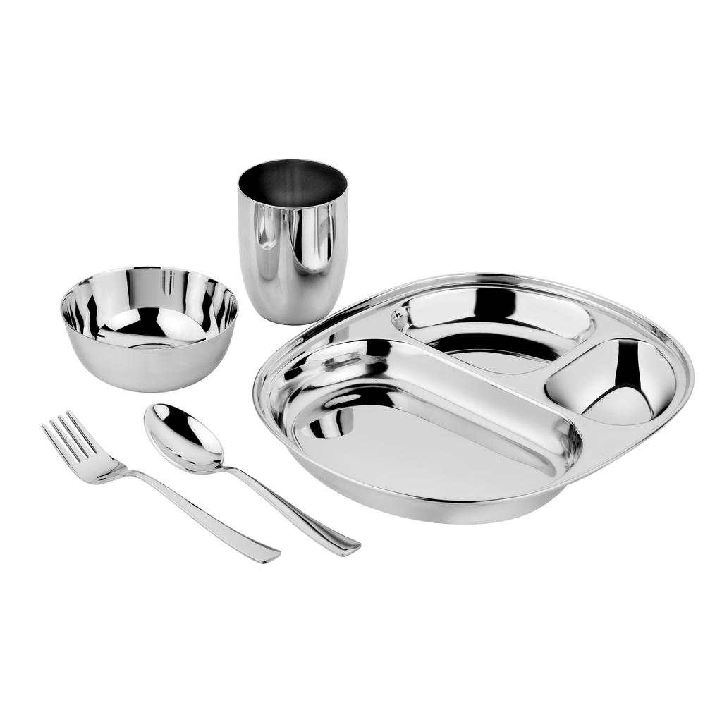 Classic compartment plate bowl cup fork and spoon for children