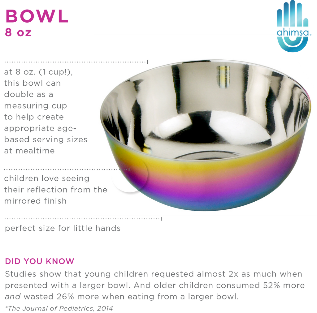 8 oz bowl makes figuring out serving sizes easy