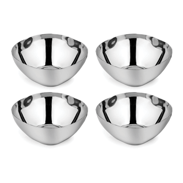 Classic stainless steel snack bowls