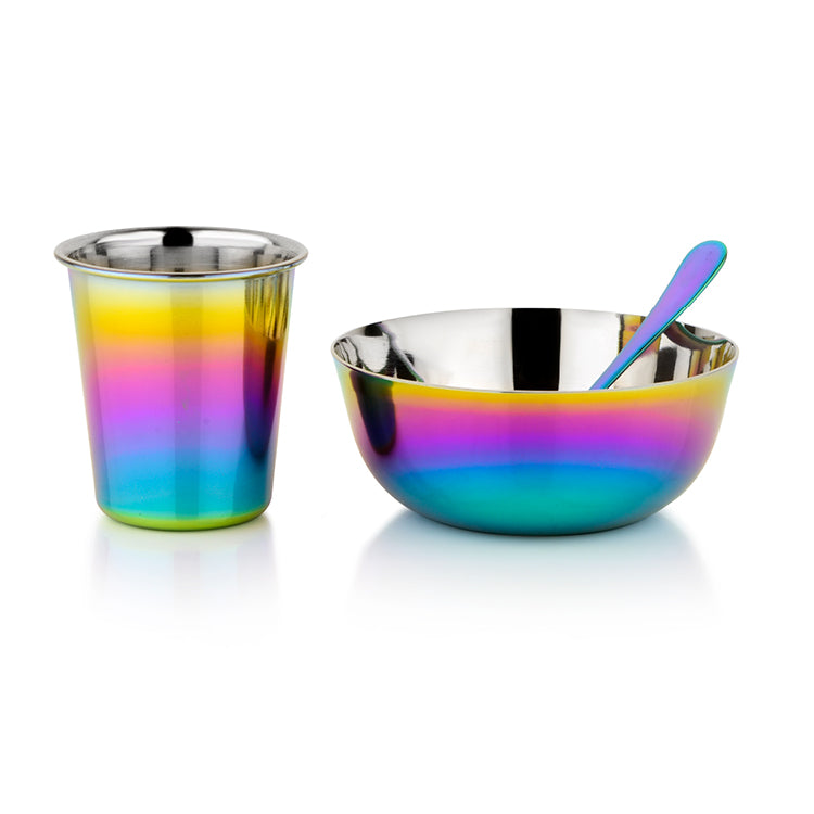 Rainbow meal set for infants