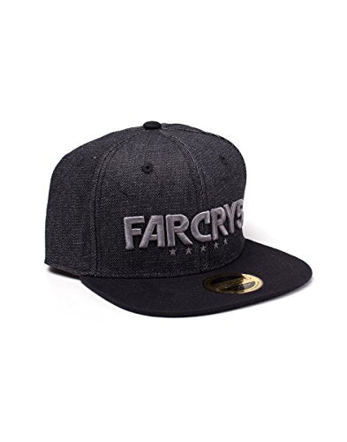 FAR CRY 5 Embroidered Logo Denim Snapback Baseball Cap Black, One Size