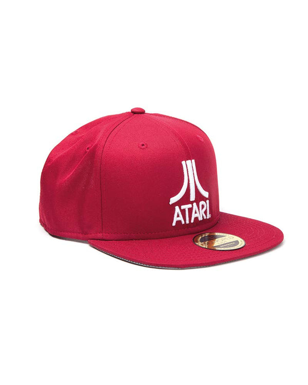 Official Licensed Atari Embroidered Logo Red Snapback Cap Hat (Black)