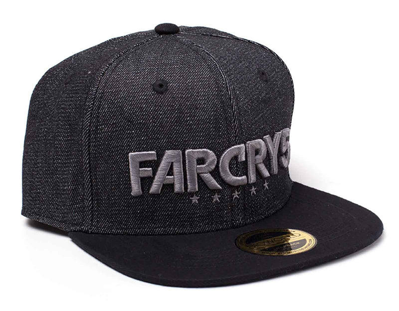 Far Cry 5 Baseball Cap Black Denim Logo Official Ps4 Xbox Black Snapback