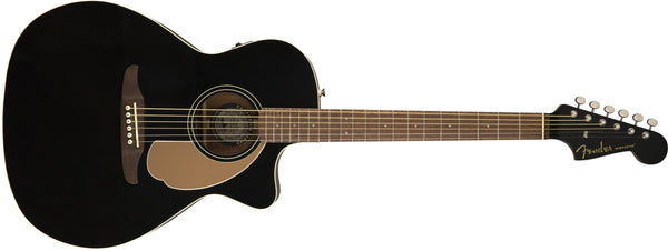 Fender Newporter Player - California Series Acoustic Guitar - Jetty Black Finish