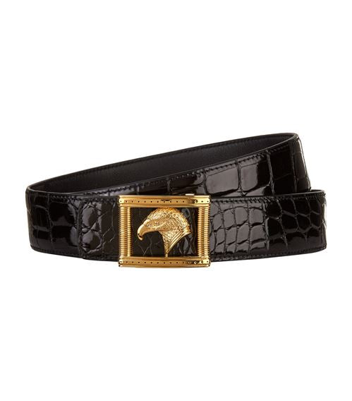 Stefano Ricci Eagle Buckle Crocodile Belt