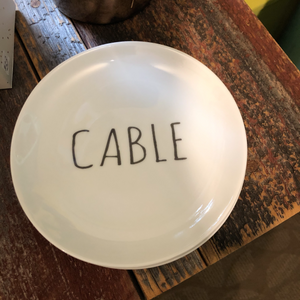 """Cable"" Appetizer Plate"