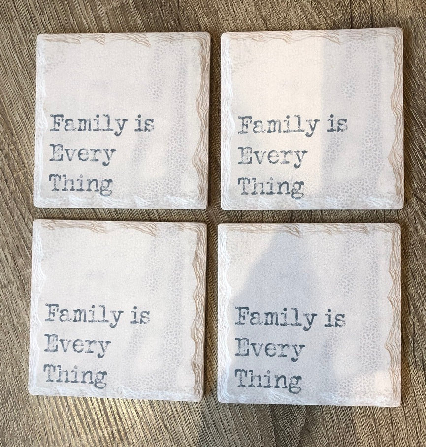 Family is Everything Coaster Set/4