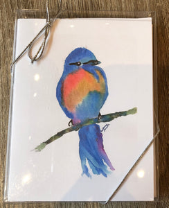 Blue Bird Note Cards - Set of Six