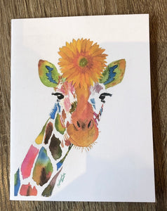 Ginny Giraffe Note Cards - Set of Six