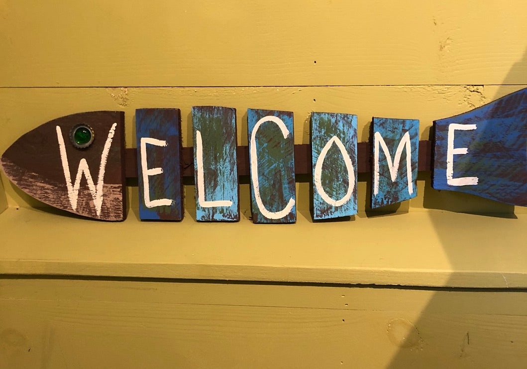 Welcome Fish Sign