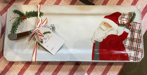 Santa Serving Tray w/Spreader