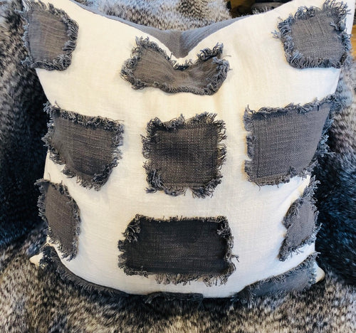 Cream w/Gray patch Pillow