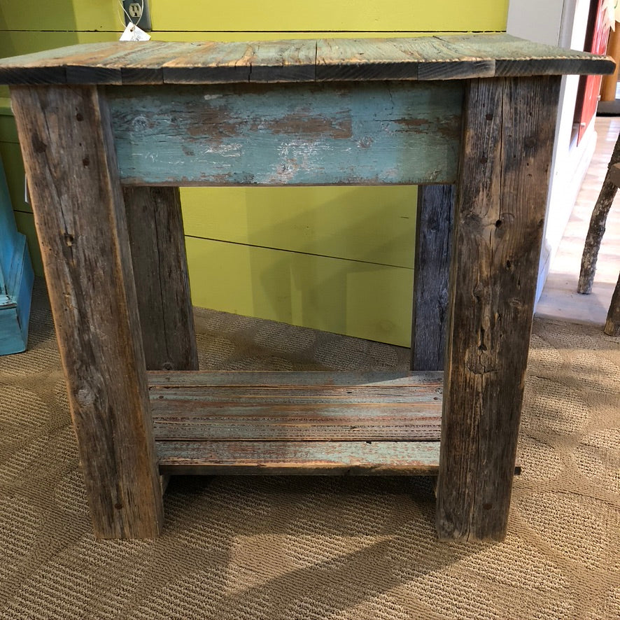 Handmade Turquoise End Table