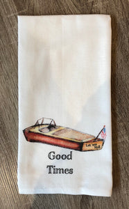 """Good Times"" Dish Towel"