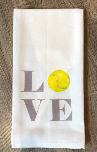 Tennis Love Dish Towel