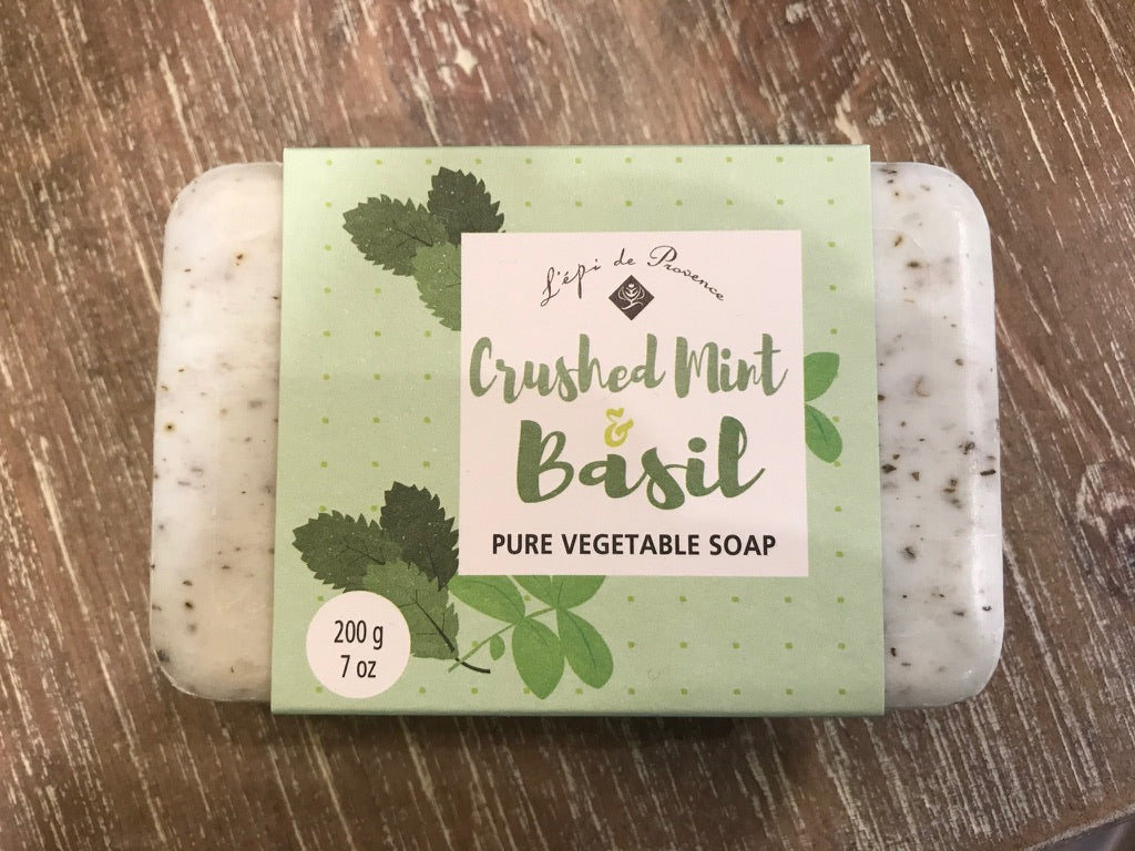 Lepi de Provence Pure Vegetable Soap - Crushed Mint Basil