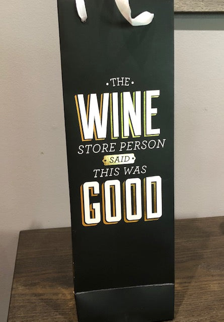 Wine is Good Paper Wine Bag