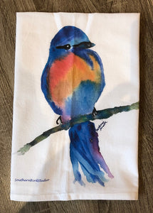 Blue Bird Dish Towel
