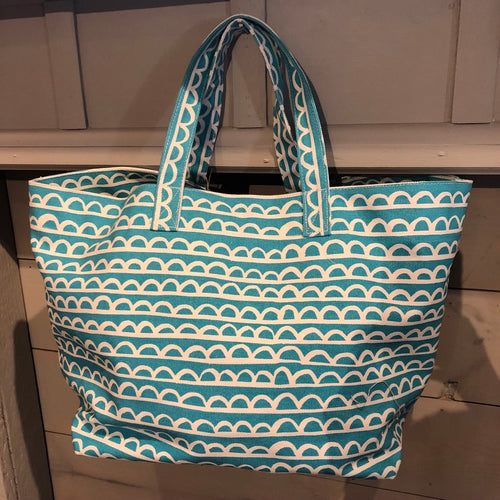 Turquoise Canvas Tote