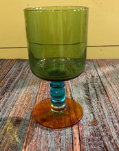 Load image into Gallery viewer, Green & Teal Wine Glass