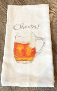 """Cheers"" Cotton Dish Towel"