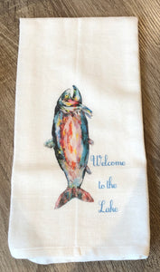 """Welcome to the Lake"" Dish Towel"