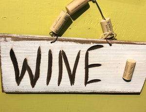 """Wine"" Wall Sign"