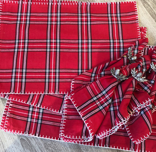 Red Plaid Placemats