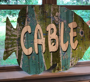 Metal Fish Cable Wall Art