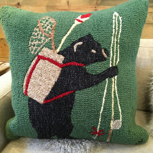 Bear Gone Fishing Pillow