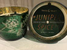 Load image into Gallery viewer, Green Mercury Glass Juniper Spice Candle