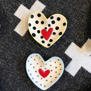 Heart Shaped Mini Dishes - Set of Two