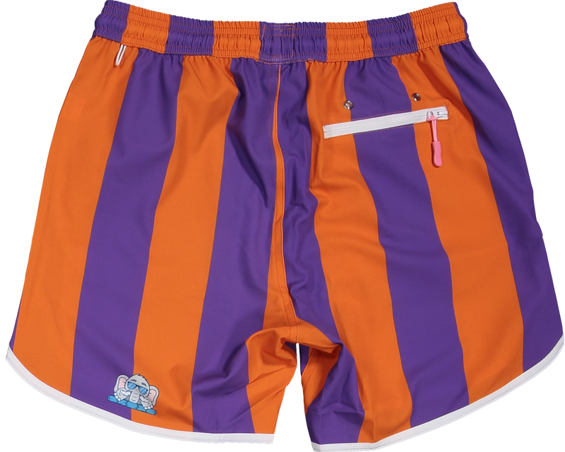 Clemson Orange and Purple shorts for gameday tailgate