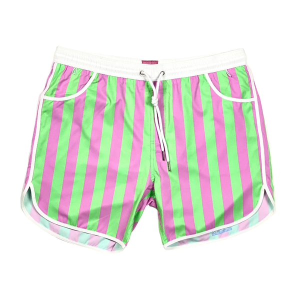 Green/Pink Mid-Stripe