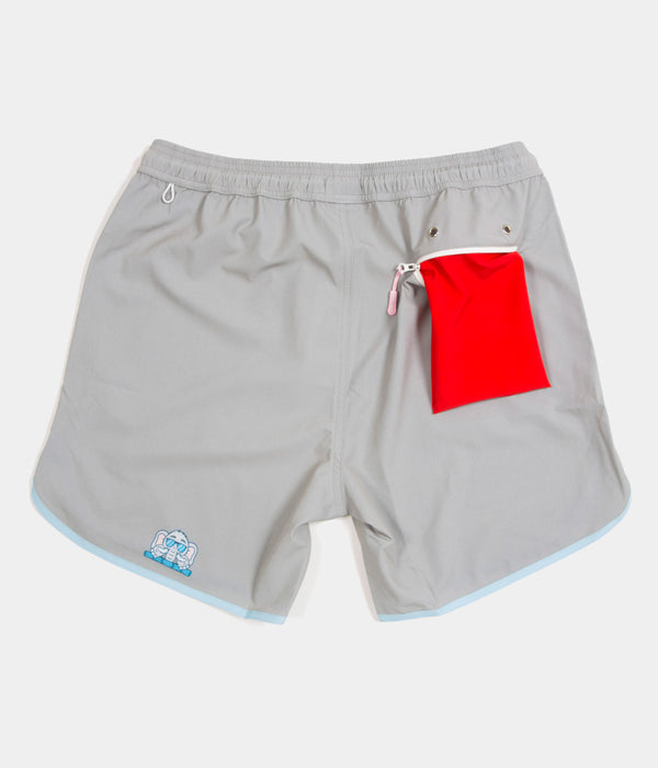 Junk In Your Trunks - Men's Swim Trunks - Solid Elephant Grey - Back