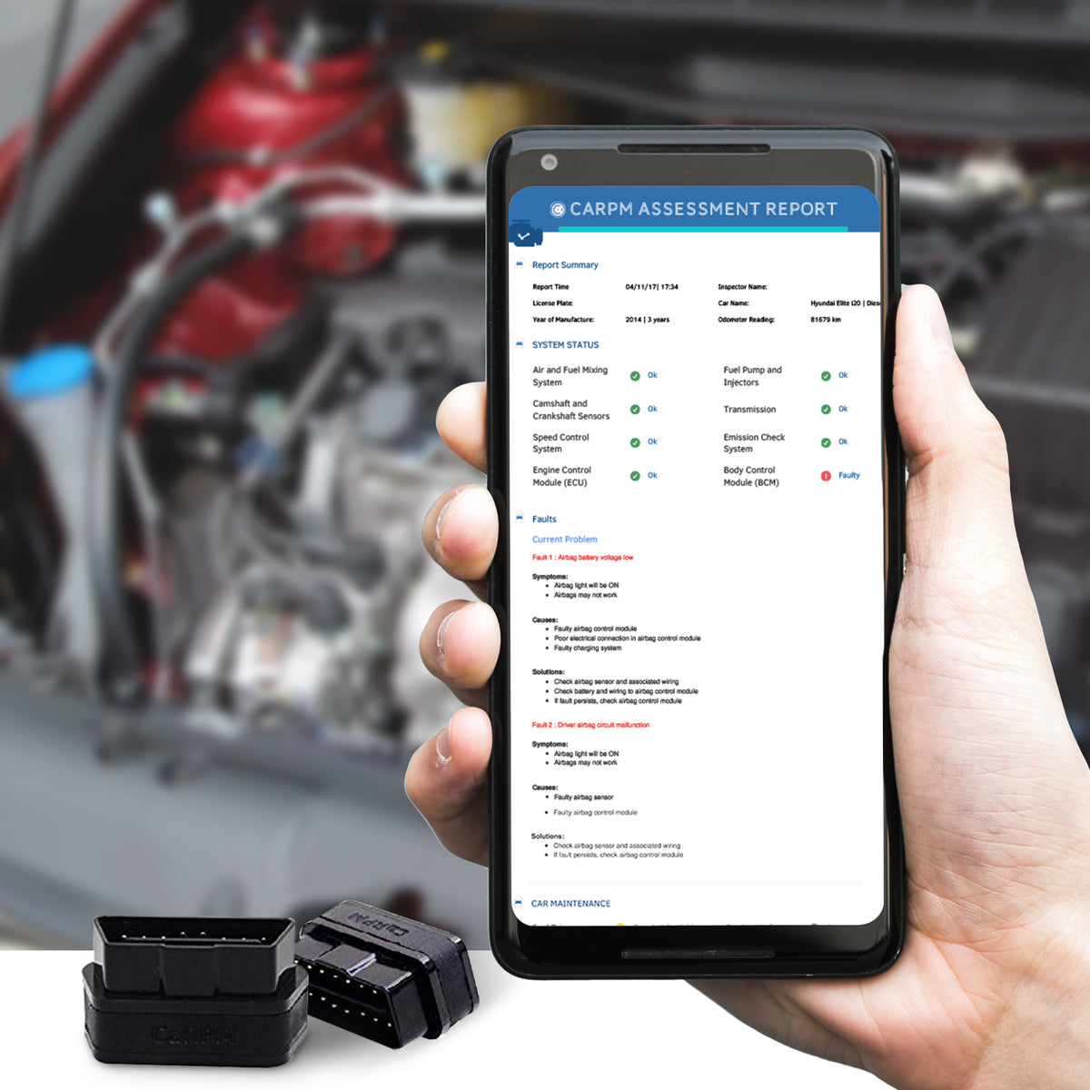 CaRPM OBD Scanner With Full Scanning (Engine, ABS, SRS, EPS, BCM)
