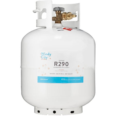 20LB High Purity USA Propane LP Vertical Refillable Gas Tank - 99.5% Guaranteed