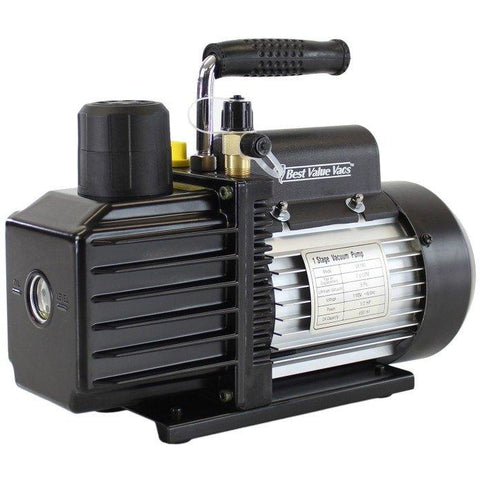 Best Value Vacs VE115 3CFM Single Stage Rotary Vane Vacuum Pump