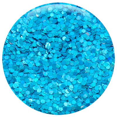 Ocean Blue Jewel Hexagon .040""