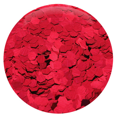 Ruby Red Hexagon .094""