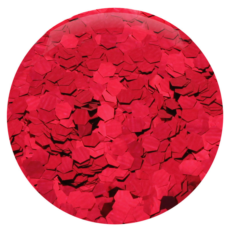 "Ruby Red Hexagon .094"" – Bulk"