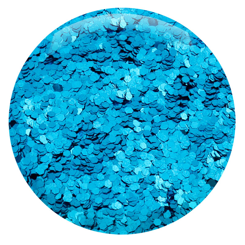 "Ocean Blue Hexagon .040"" – Bulk"