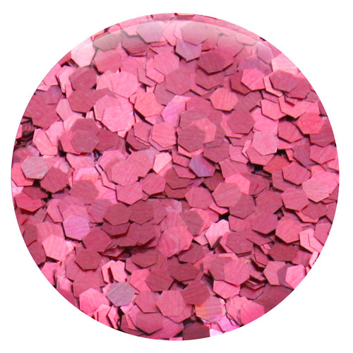 "Pink Salmon Jewel Hexagon .094"" – Bulk"