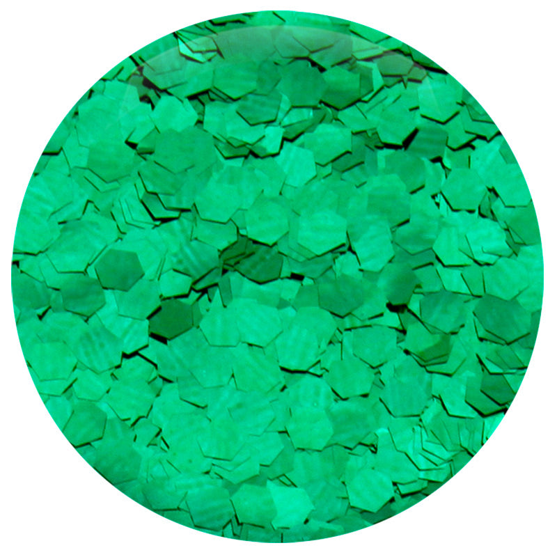"Emerald Green Hexagon .094"" – Bulk"