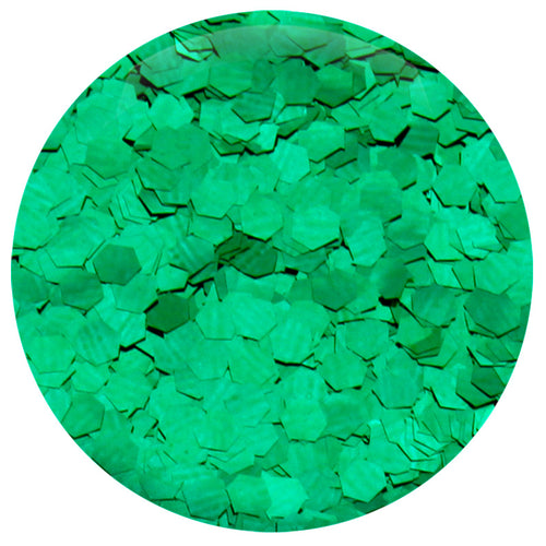 Emerald Green Hexagon .094""